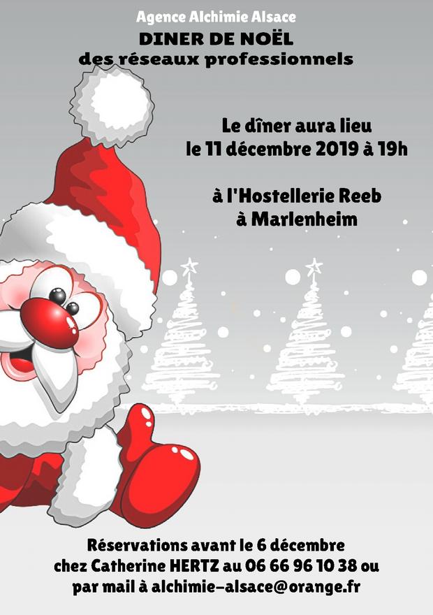 Dîner de Noël des réseaux professionnels le 11 décembre 2019 à Marlenheim