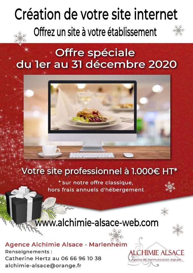 Création de votre site internet - Offre spéciale Noël 2020
