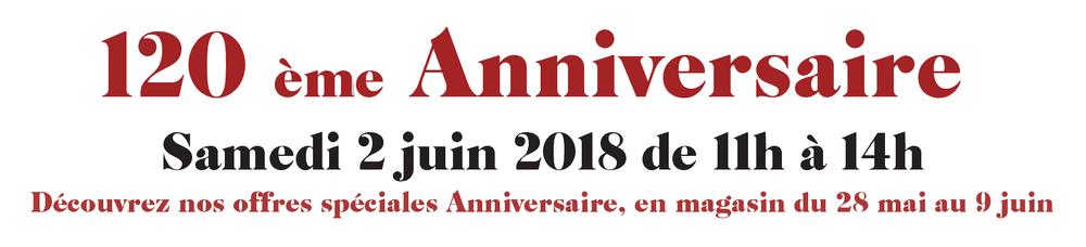 Banderole 120e anniversaire boucherie burg a marlenheim