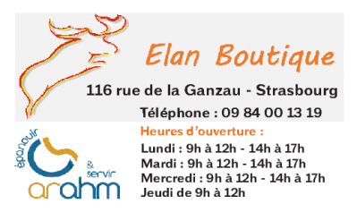 Cartes de visite magnets elan boutique strasbourg