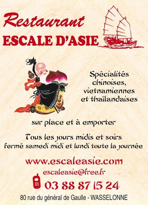 Restaurant Escale d'Asie à Wasselonne