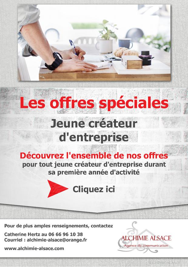 Offres spéciales - Jeunes créateurs d'entreprise ou d'association